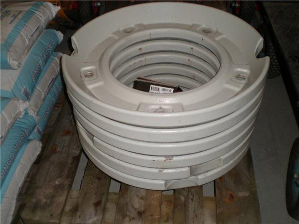 Valtra Baghjulvægte sæt 6 stk.80Kg 42 tommer