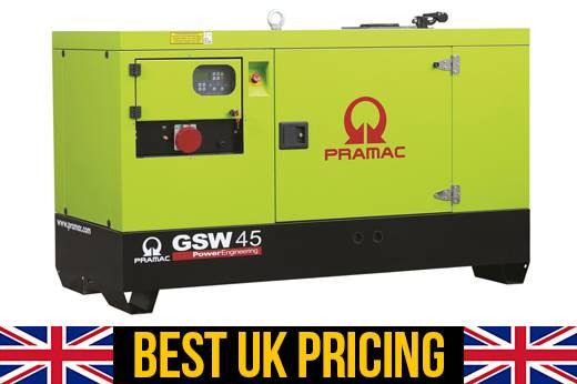 Pramac GSW 45kVA UK Genset / Home Generator (Key Start