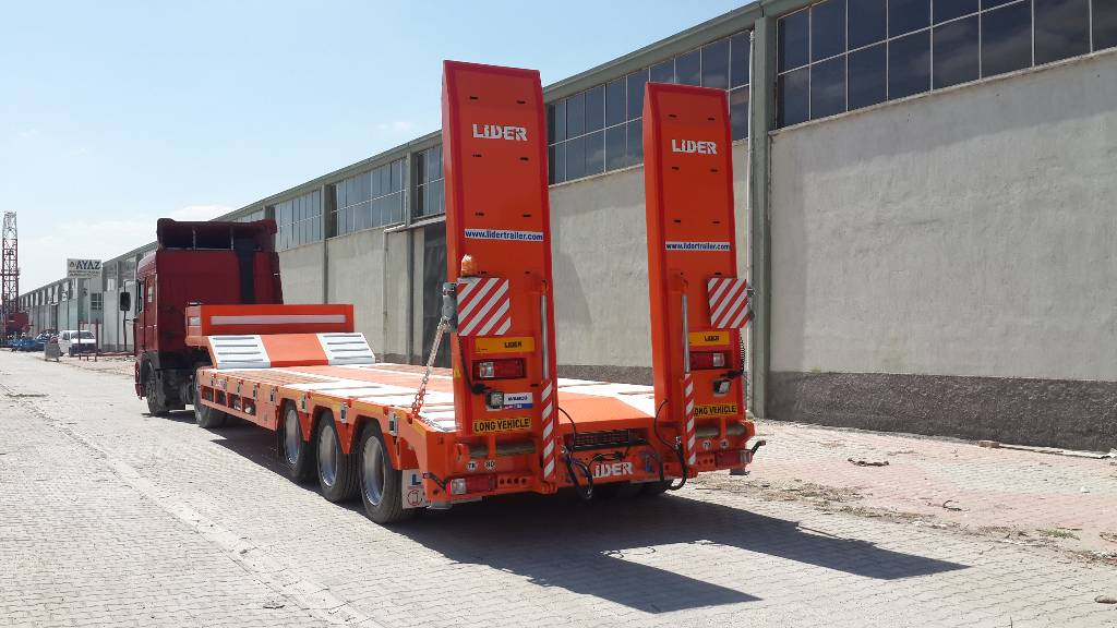 Used lider new lowbed 2018 3 axle 60 ton from manufacturer for Porte engin 60 tonnes