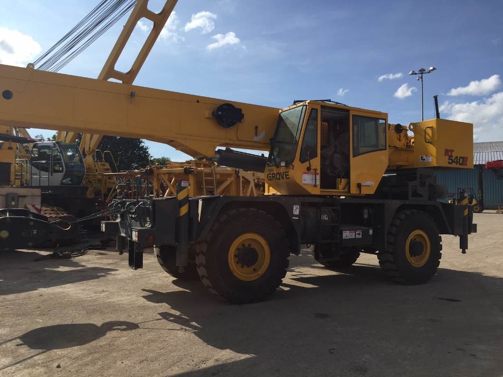 Used Grove Cranes : Used grove rt e rough terrain cranes year for