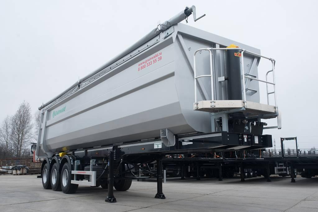 Used Grunwald Tipper semitrailer 50 cbm grain / Hopper ...