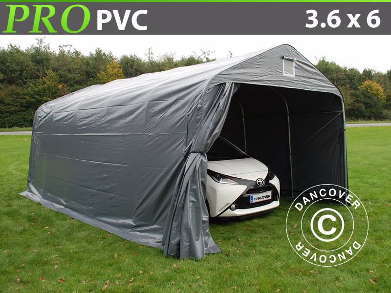 dancover portable garage 3 6x6x2 7m pvc lagertelt preis. Black Bedroom Furniture Sets. Home Design Ideas
