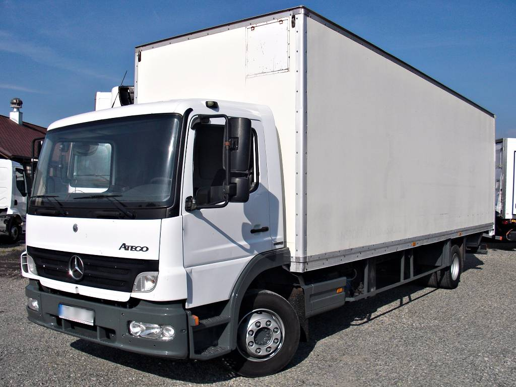used mercedes benz atego 1218 nl box 21 pallets lift box trucks year 2007 price 13 535 for. Black Bedroom Furniture Sets. Home Design Ideas