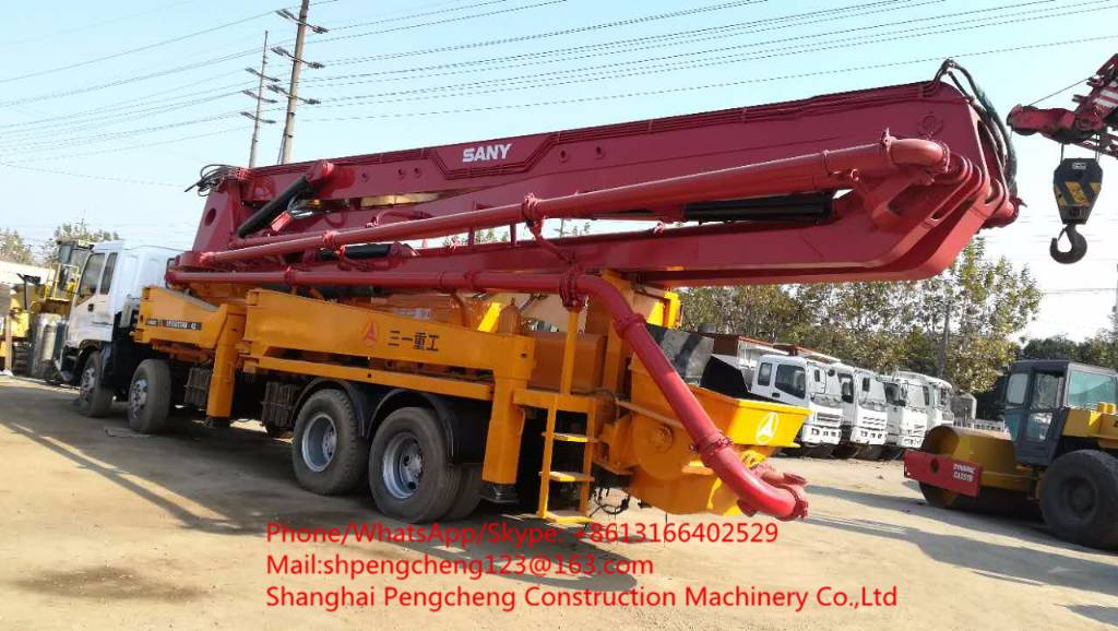 Used Sany SY5383THB 42 concrete pumps Year: 2012 for sale