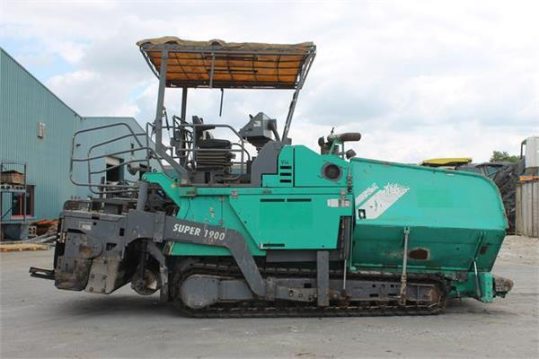 Used Vögele Super 1900-1 asphalt pavers Year: 2003 Price ...