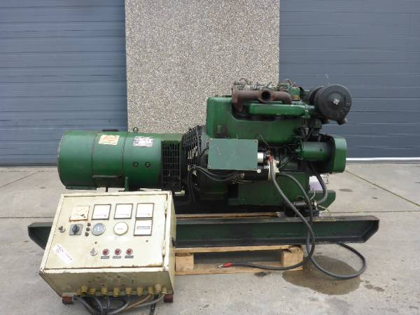 Used lister st3 12 5 kva sns371 diesel generators year for Groupe electrogene 12 kva