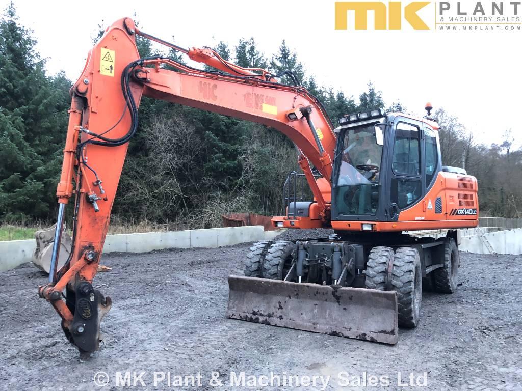 Doosan DX140W-3 - Mnftr year: 2013 - Wheeled excavators - ID