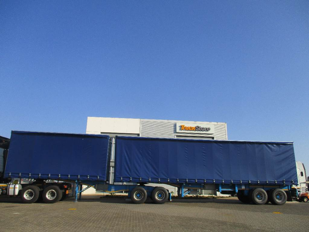 Semi Tractor Trailer : Tautliner interlink semi trailer year tractor