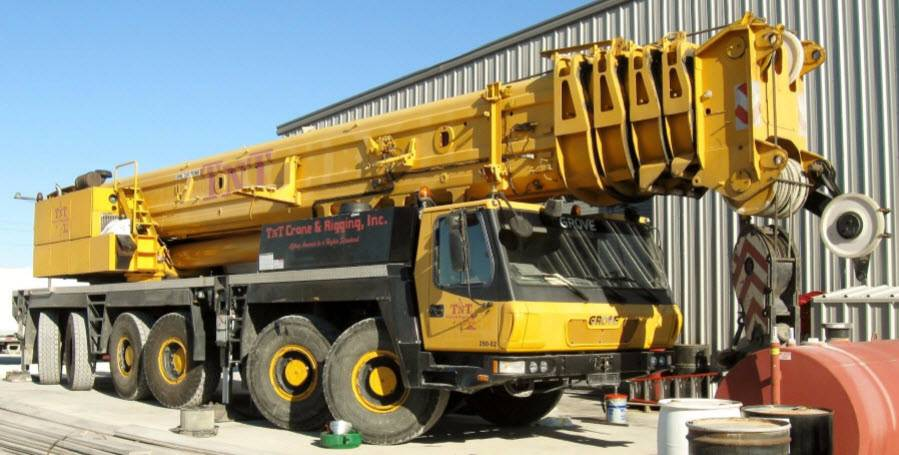 Grove gmk 6300 for sale houston tx year 2007 used grove gmk 6300 all terrain cranes for Terrain construction