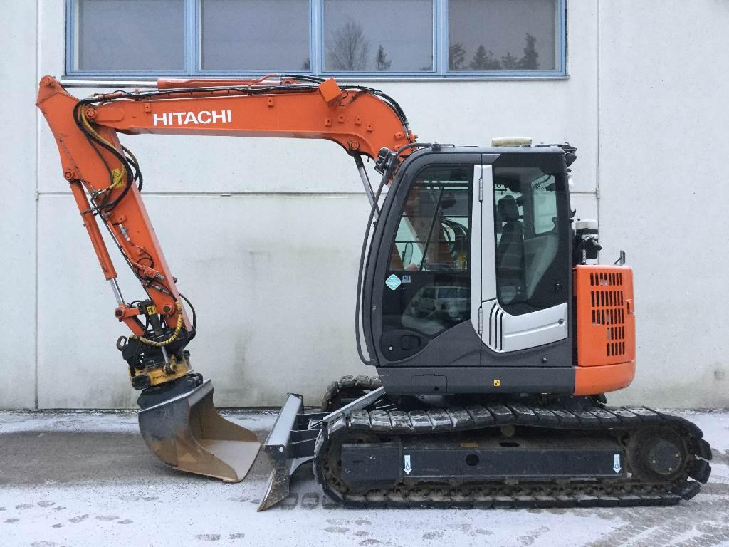 Used Hitachi Zx85us 3 Mini Excavators 7t 12t Year 2013