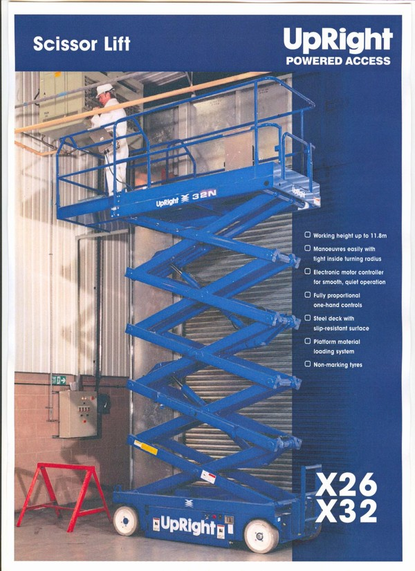Used Upright X32 Scissor Lifts Year 2008 Price 8 767