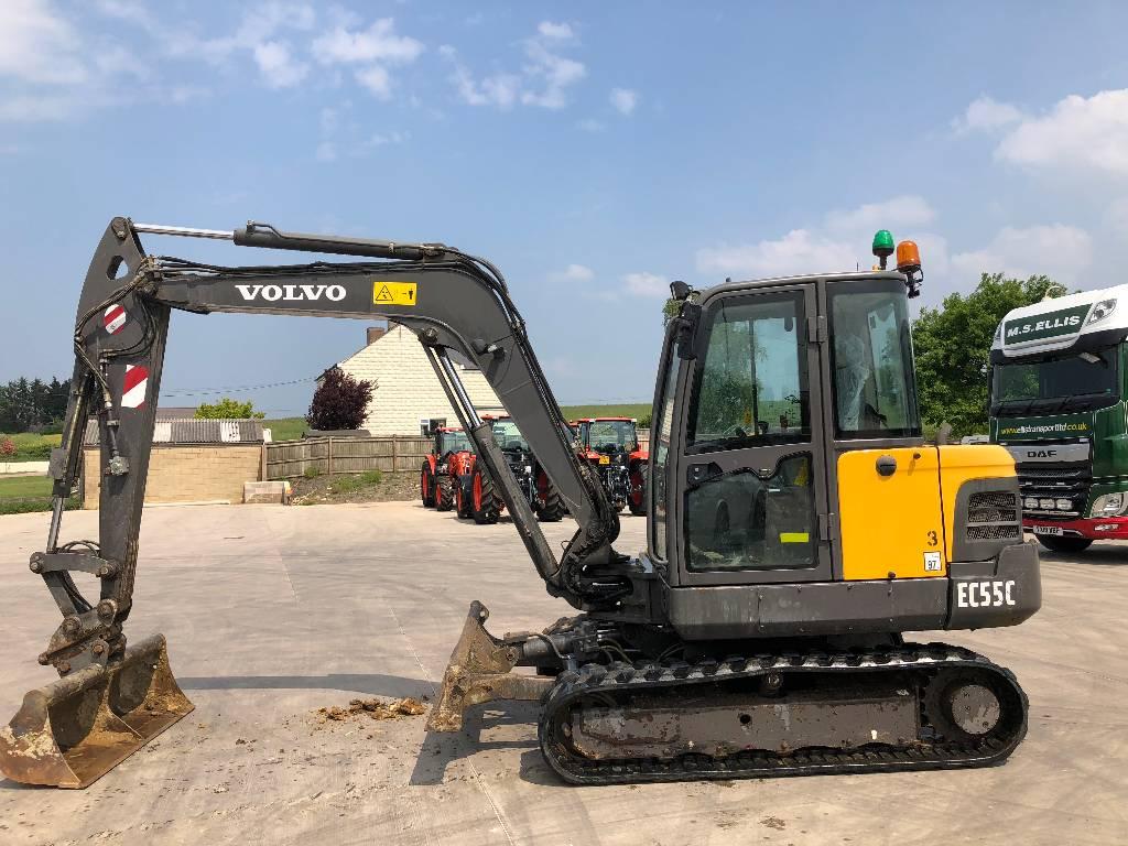 Volvo -ec-55-c - Manufacturing year: 2013 - Mini excavators < 7t (Mini  diggers) - ID: 8F1E692F - Mascus Canada