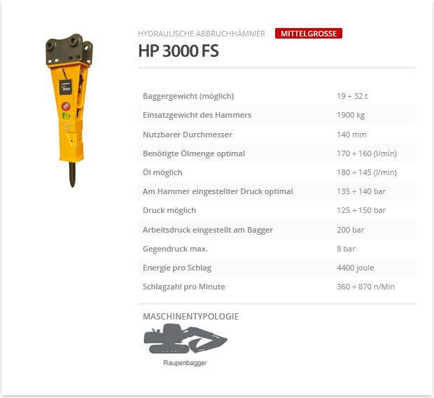 Indeco HP 3000 FS