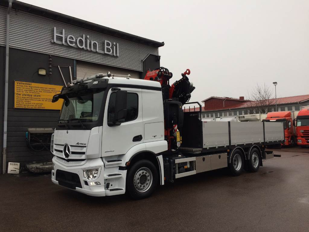 Used mercedes benz actros 2543l crane trucks year 2018 for Mercedes benz trucks