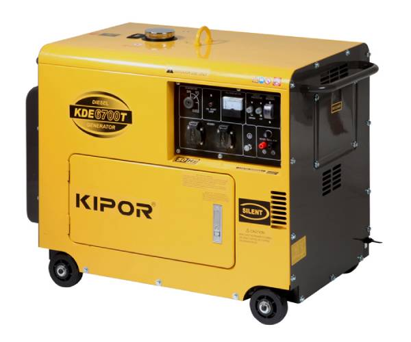 Used Kipor Kde6700t3 6 7 Kva Silent Diesel Generatorset