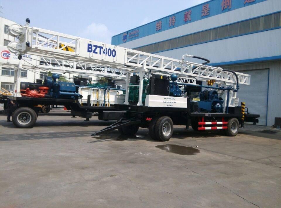 Jinquan bzct sz trailer mounted drilling rig m drill