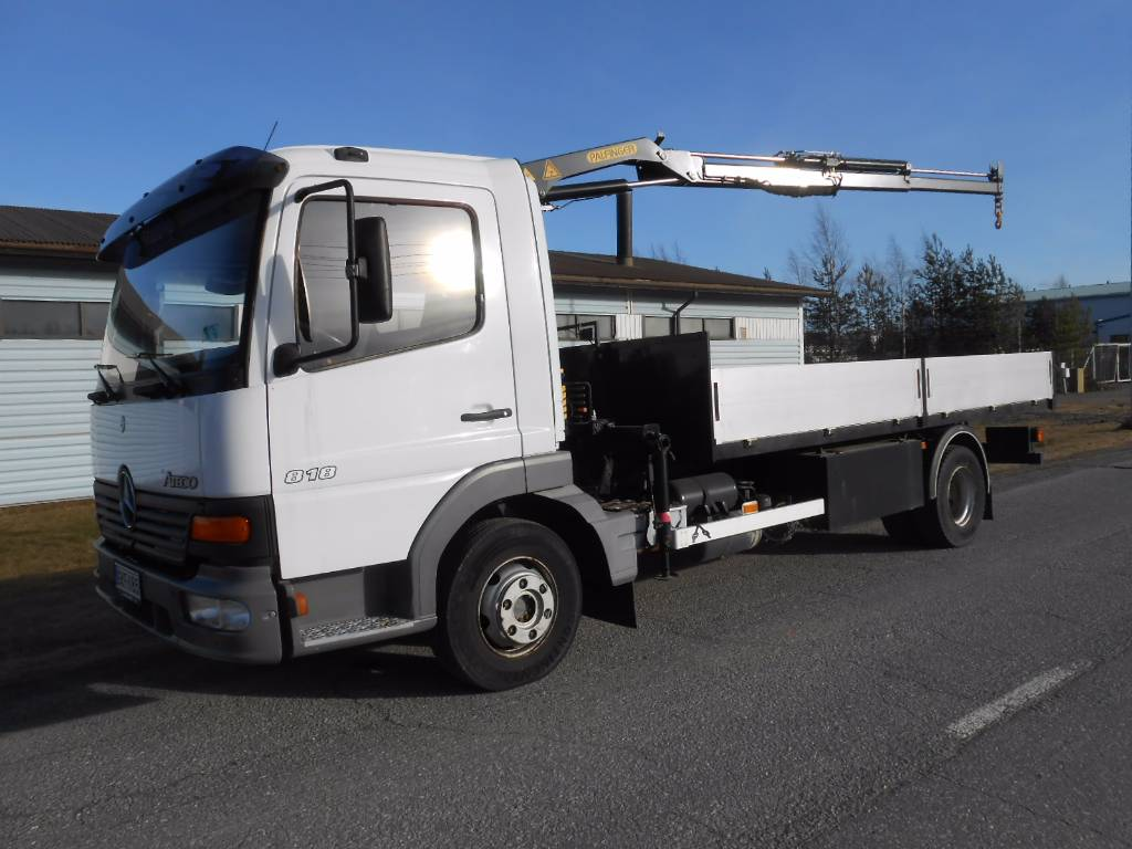 Used mercedes benz atego 818 palfinger pk 2800 2 nosturi for Used mercedes benz trucks for sale in germany