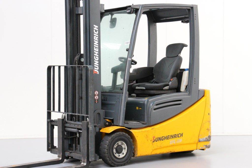 Used jungheinrich efg216 electric forklift trucks year for Electric forklift motor for sale