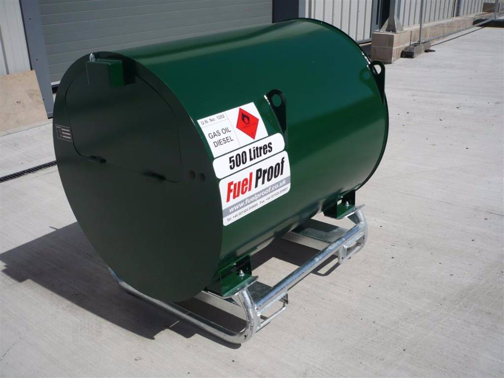 Construction Gas Tank : Used fuel proof litre fuelstore bunded diesel tank