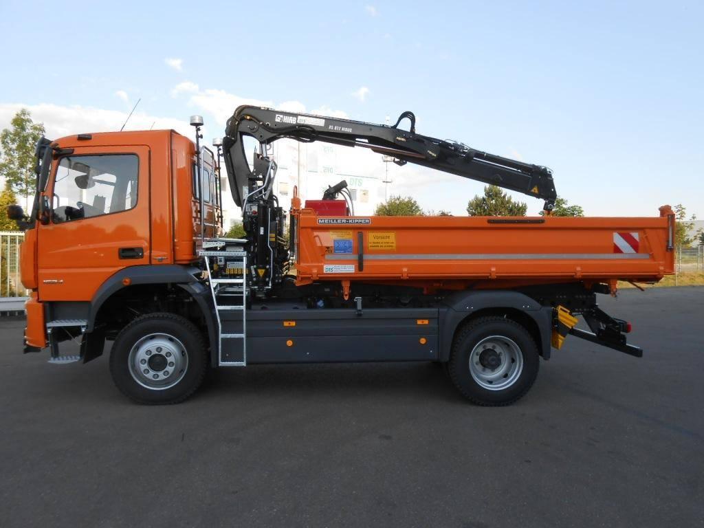 Used mercedes benz atego 1530 af 4x4 tipp och kranbil for Used mercedes benz trucks for sale in germany