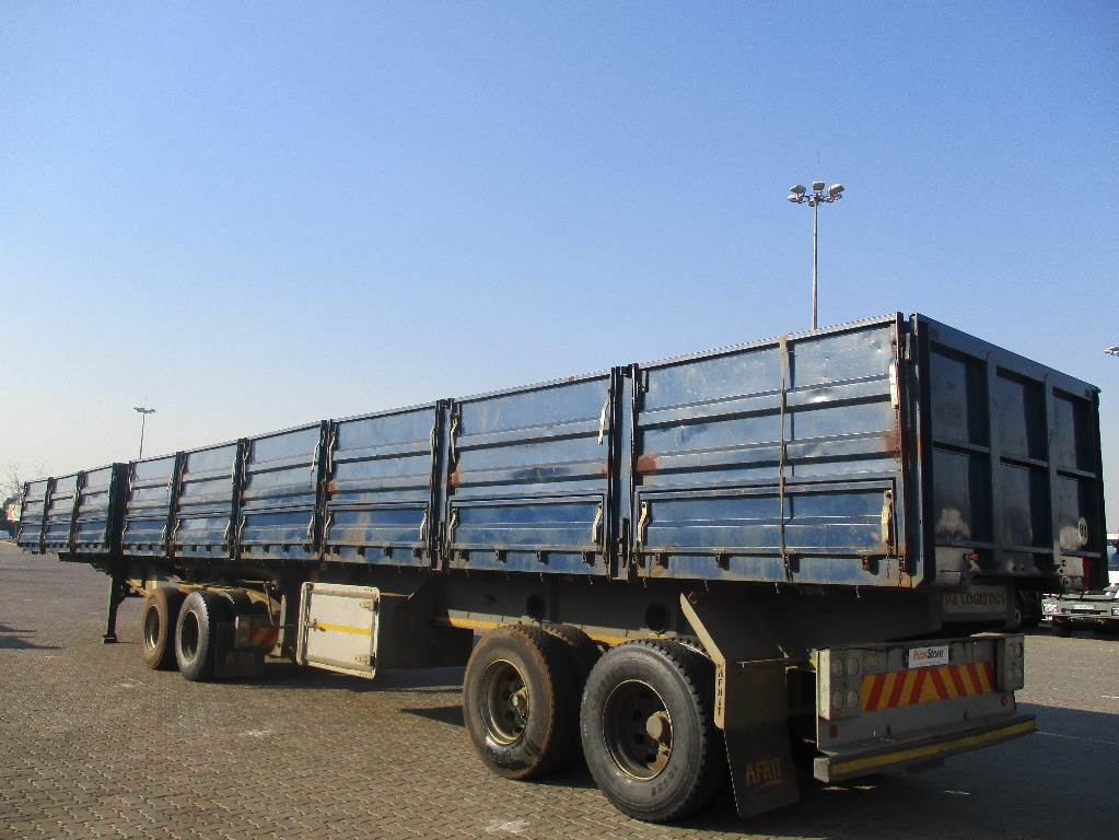 Commercial Trailer Unit : Used afrit dropside interlink semi trailer tractor units