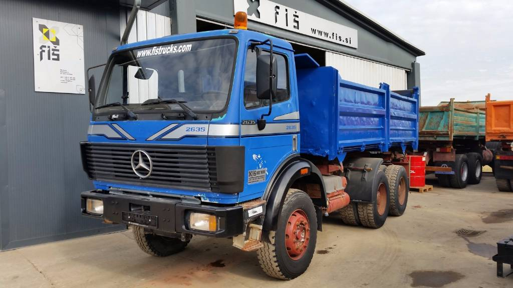 Used mercedes benz sk 2635 6x4 meiller tipper dump trucks for Used mercedes benz tipper trucks for sale in germany