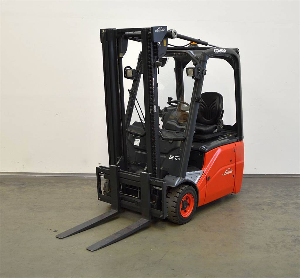 Used linde e 15 386 electric forklift trucks year 2012 for Electric forklift motor for sale