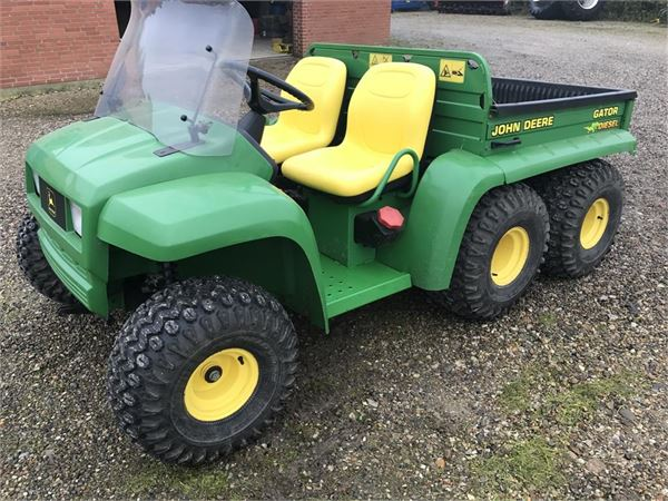 used john deere gator 6x4 diesel el tiplad sneblad other. Black Bedroom Furniture Sets. Home Design Ideas