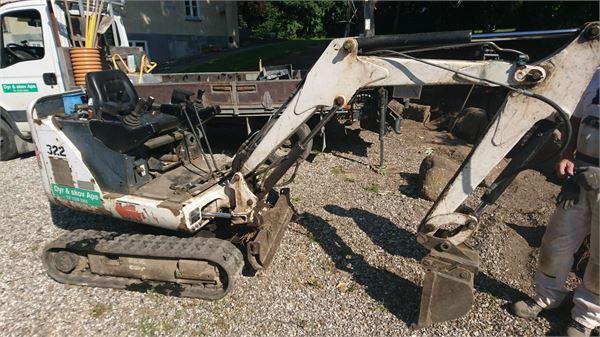 Bobcat 322 til salg Pris: kr. 52.500, Årgang: 2002 - Brugte Bobcat 322 Minigravemaskiner ...