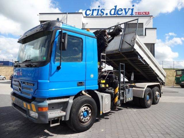 Mercedes benz 2643 6x2 palfinger 17500 tipper trucks year for Used mercedes benz tipper trucks for sale in germany