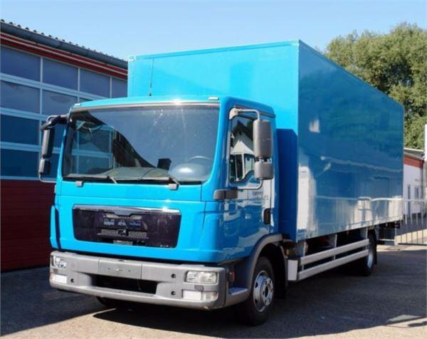 used man tgl koffer 6 40 meter klima lbw t v neu box trucks year 2009 price 18 929. Black Bedroom Furniture Sets. Home Design Ideas