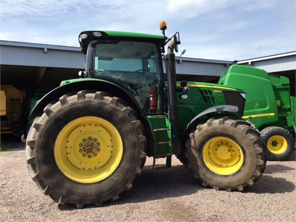 used john deere 6210r ap traktor fr lyft tractors year. Black Bedroom Furniture Sets. Home Design Ideas