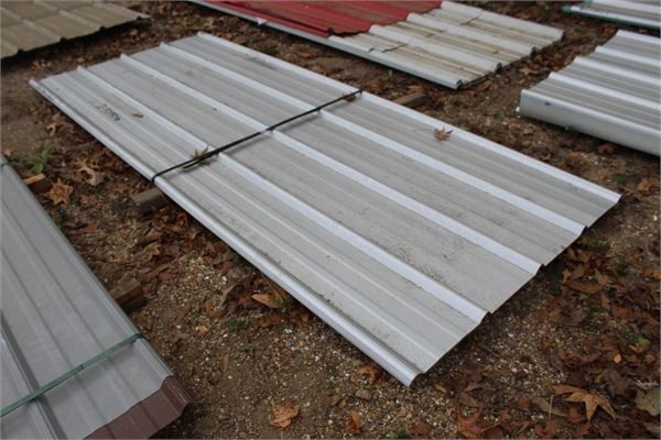 Lot Of 8pcs 60 Lf Metal Roofing Siding For Sale