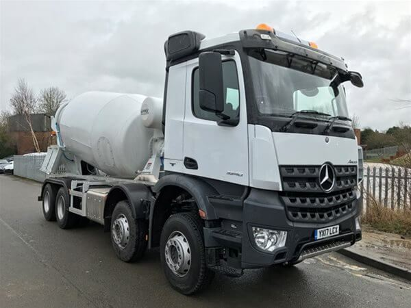 Used mercedes benz hymix p8000 8 9m3 concrete trucks year for Mercedes benz trucks price list