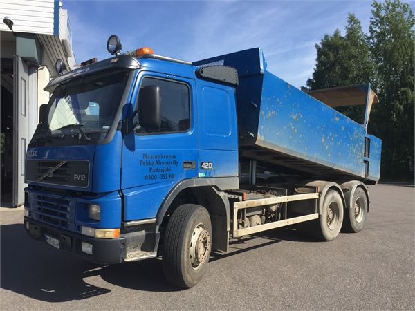 used volvo fm12 dump trucks year 2002 price 24 406 for sale mascus usa. Black Bedroom Furniture Sets. Home Design Ideas